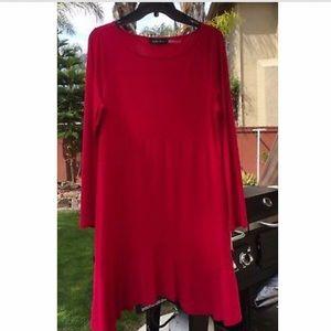 Large Cranberry Long Sleeve Dress